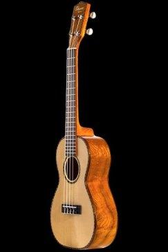 Ohana-CK70ELSolid_spruce_and_eucalyptus_soprano_front_CK-70EL_Ohana_ukuleles